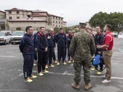 Marines corps trials 2015. Arrivée de l'équipe sur le camp Pendleton.