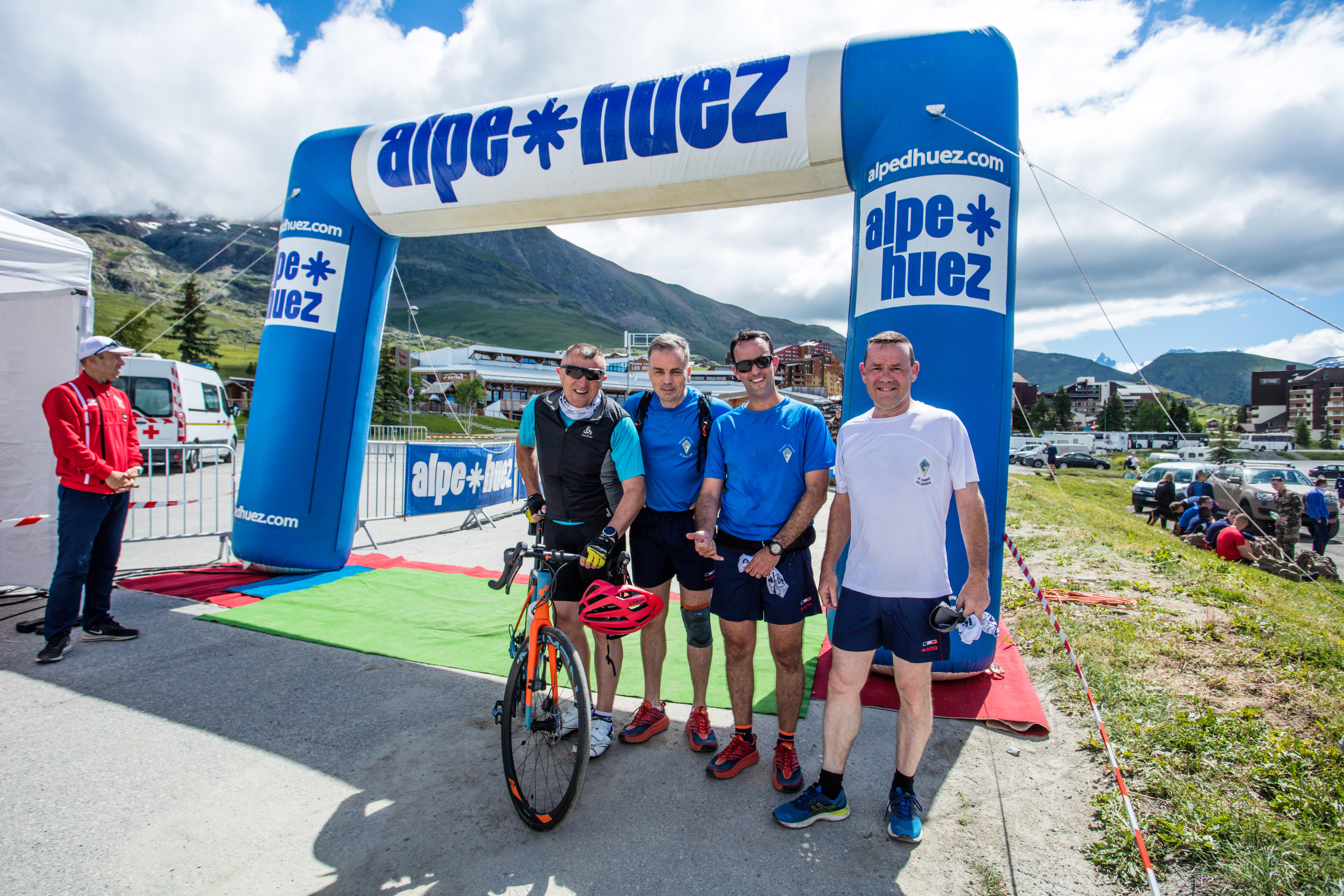 Montée de l'Alpe d'Huez au profit de Terre Fraternité (activité en juin 2021)