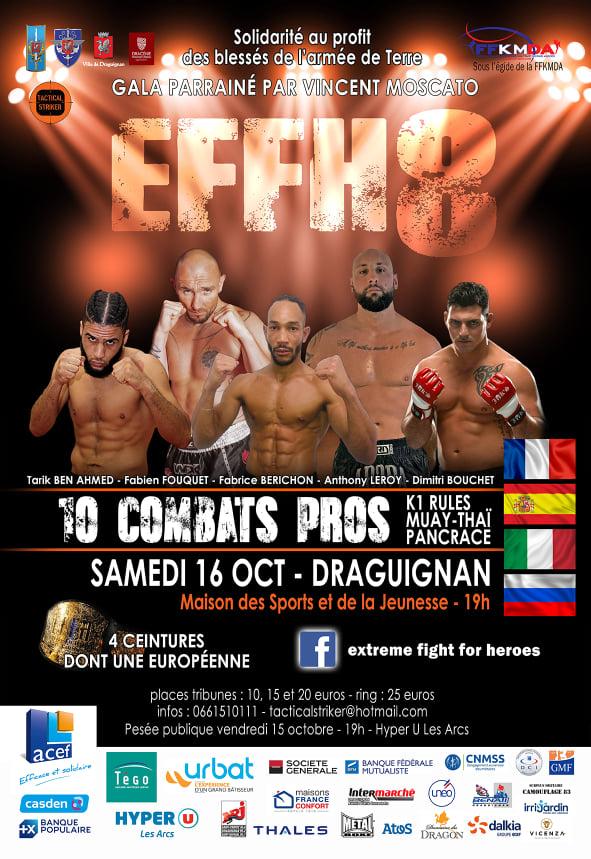 8e édition de Extreme Fight for Heroes – Draguignan – 16 octobre 2021 – 19h00
