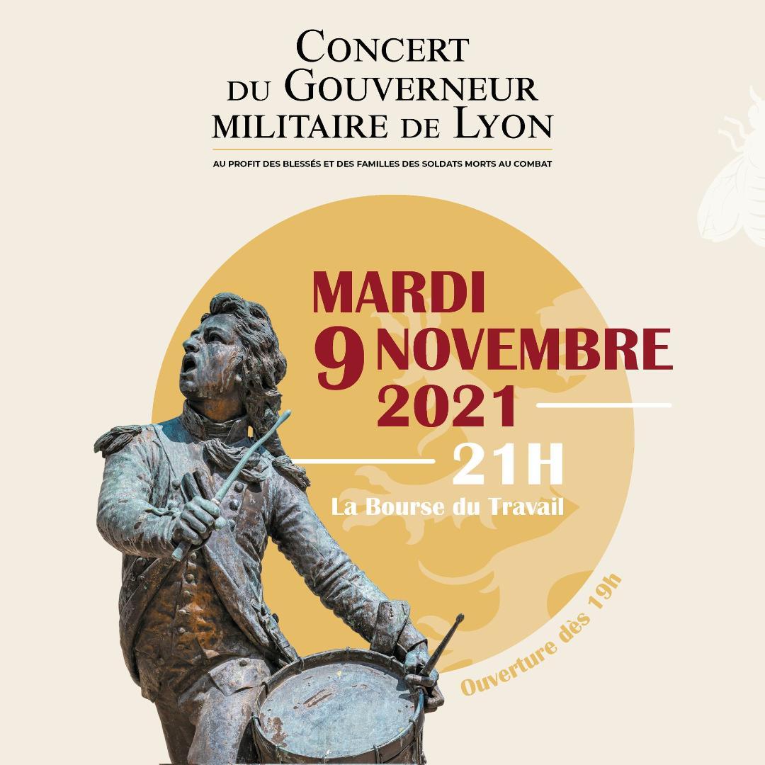 Concert du Gouverneur militaire de Lyon (9 novembre 2021 – 21h00)