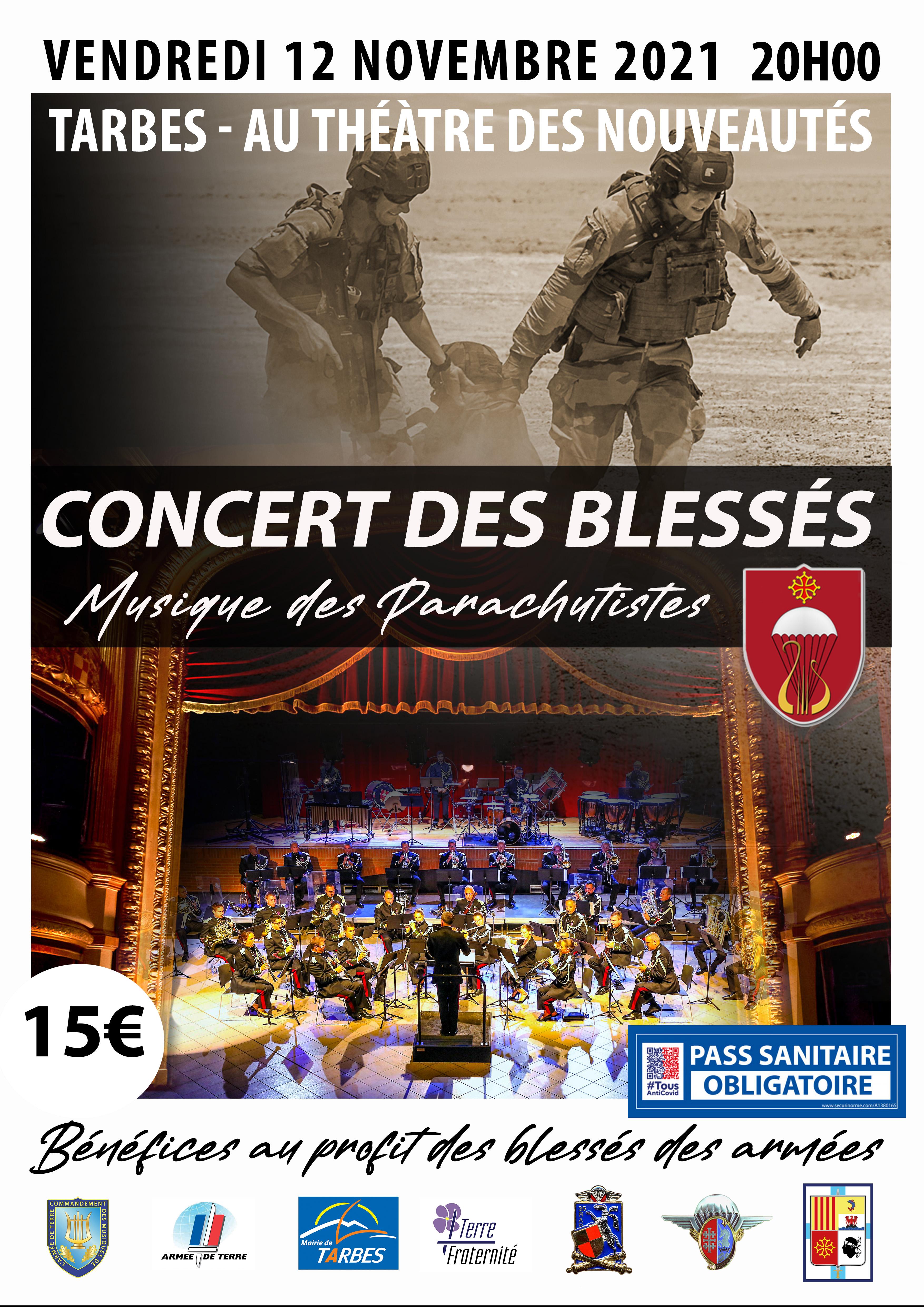 Concert de la musique des parachutistes à Tarbes (12 novembre 2021 – 20h00)