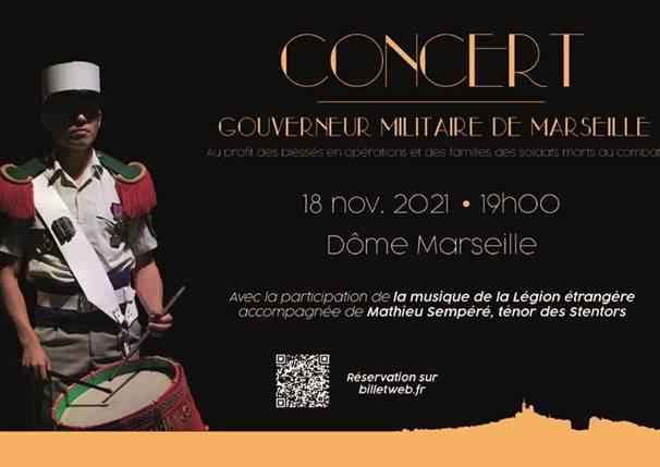 Concert du Gouverneur militaire de Marseille (18 novembre 2021 – 19h00)
