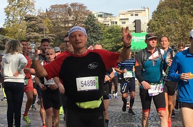 Bravo au Cdt Philippe, blessé qui a participé au marathon de Paris (17 octobre 2021)